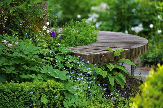 Bench, Park, Flowers, Wooden Bench, Park Bench, Garden