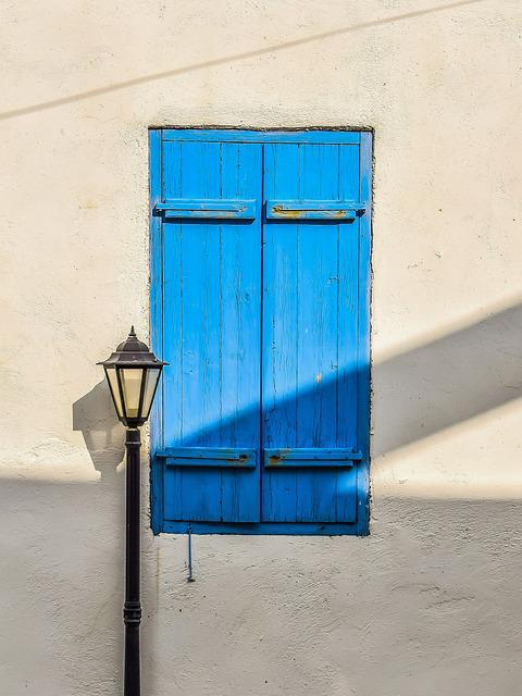 Window, Blue, Wooden, Architecture, Traditional, House