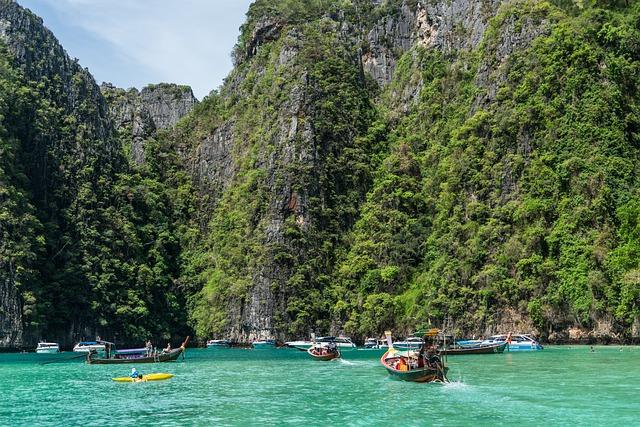 Phi Phi Island Tour, Phuket, Thailand, Wooden Boats
