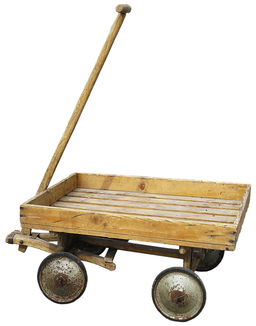 Stroller, Handcart, Cart, Wood Car, Wooden Cart