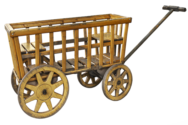 Cart, Handcart, Stroller, Wood Car, Wooden Cart, Towbar