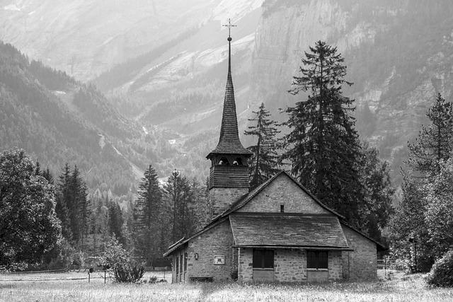 Church, Mountains, Chapel, Switzerland, Wooden Church