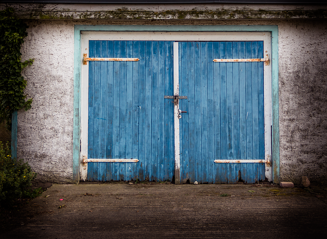 Old Gate, Old Garage, Wooden Door, Wooden Gate