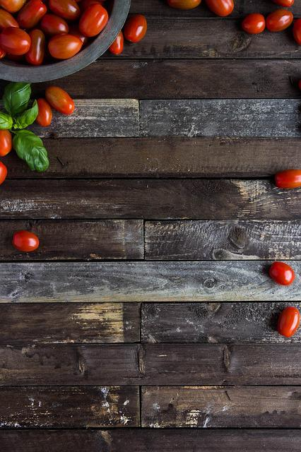 Cherry Tomatoes, Backgorund, Food, Tomatoes, Wooden