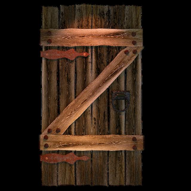 Wooden Gate, Goal, Door, Wooden Door, Old, Stainless