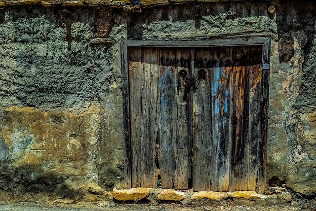Door, Wooden, Old House, Abandoned, Decay, Aged, Grunge