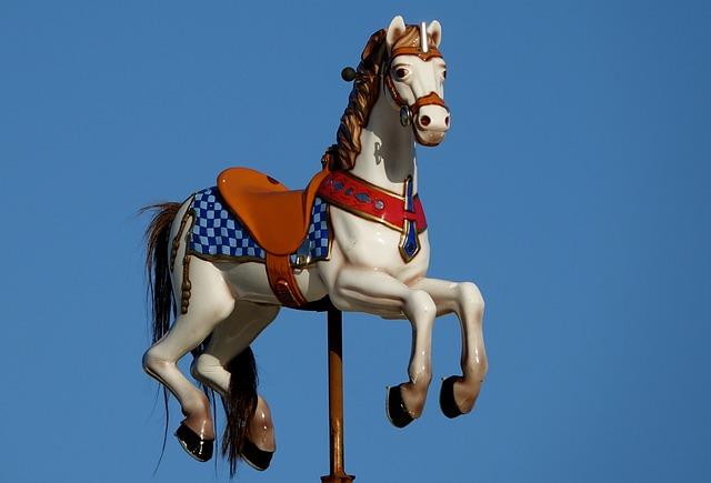 Wooden Horse, Carousel Parking Verdun