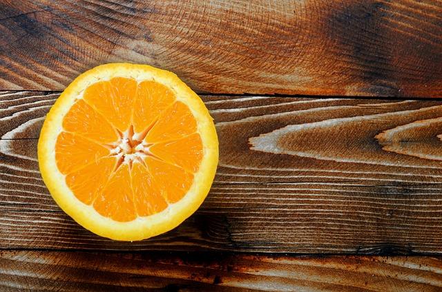 Orange, Desk, Wood, Wooden, Empty, Creative