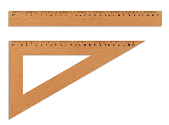 The Ruler, Wooden Ruler, Setsquare, Centimeter, Measure
