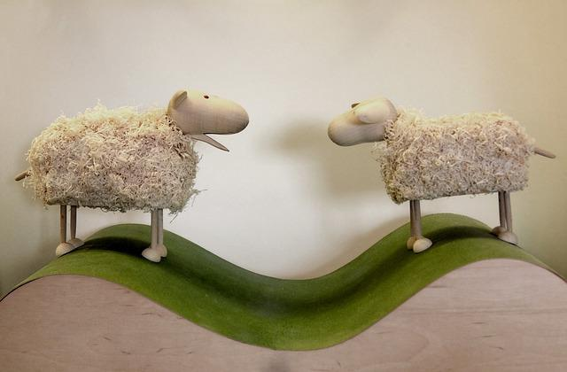 Sheep, Wood, Mower, Craft, Wooden Sheep
