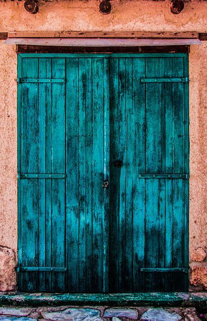 Door, Wooden, Colorful, Storage, Traditional