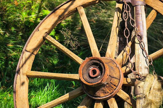 Wagon Wheel, Wheel, Wooden Wheel, Spokes, Farm, Old