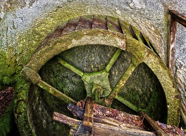 Waterwheel, Old, Historically, Woods, Drive Wheel