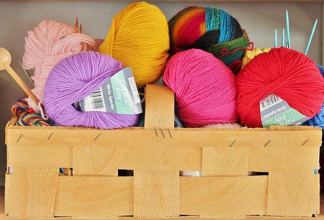 Wool, Knit, Knitting Needles, Basket, Colorful, Hobby