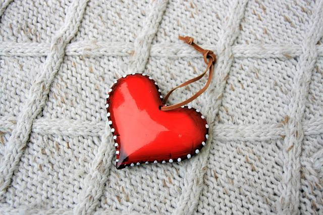 Red, Heart, Wool, Textile, February, 14