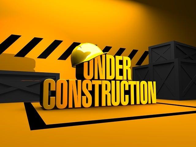 Under Construction, Construction Site, Build, Work