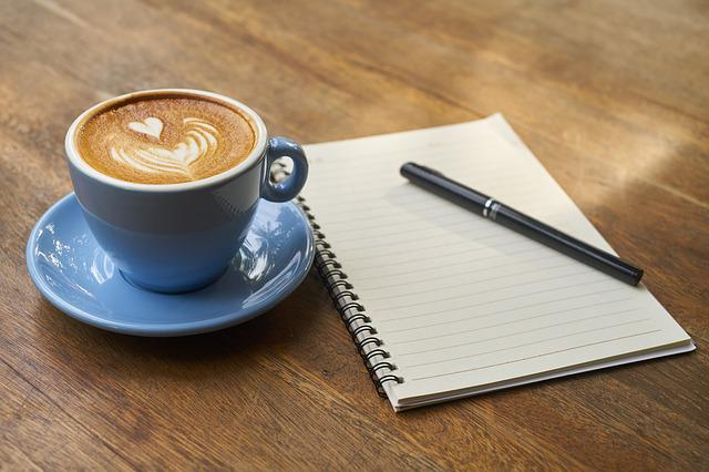 Coffee, Pen, Notebook, Work, Book, Caffeine, Food Photo