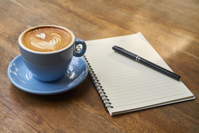 Coffee, Pen, Notebook, Work, Book, Caffeine, Food Photo