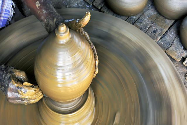 Potter, Clay Potter, Clay, Pottery, Craft, Work