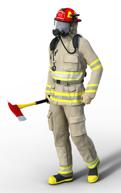 Fire, Man, Respiratory Protection, Work Clothes, Helm