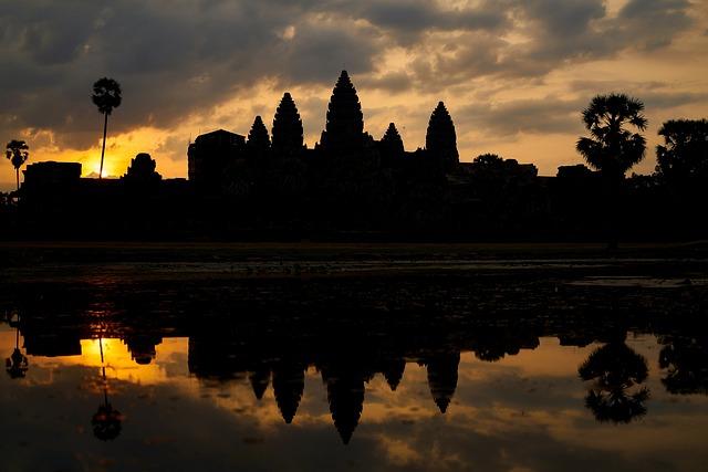 Reflection, Building, Work, On, Sunset, Sunrise, Light
