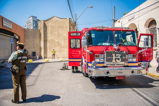 Fire, Truck, Fire Truck, Fire Service, Lights, Work