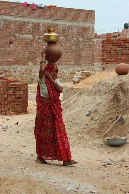 Woman, Work, India, Saree, Traditional