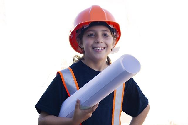 Worker, Yard Safety, Little Girl, Surveyor, Shipyard