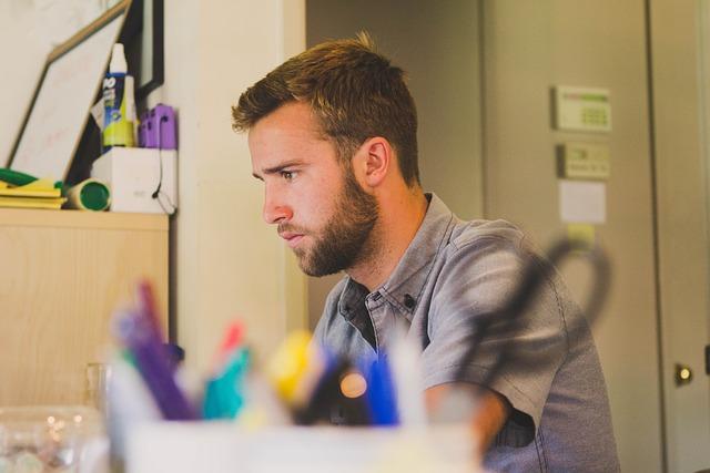 Man, Work, Desk, Business, Person, Working, Job, Male