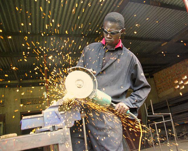 Angle Grinder, Work, Sparks, Skill, Smoke, Working