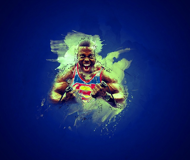 Man, Superman, Workout, Strength, Enthusiasm, Abstract
