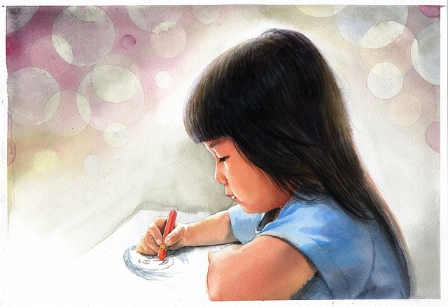 Watercolor Portrait, Watercolor, Art, Works, Asian
