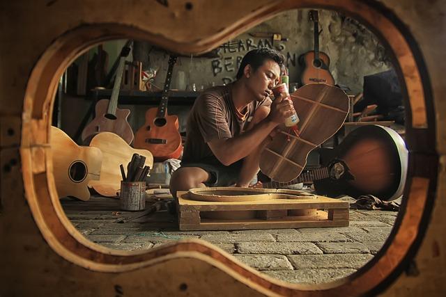 Workshop, Instrument, Wood, Craftsman, Guitar, Repair