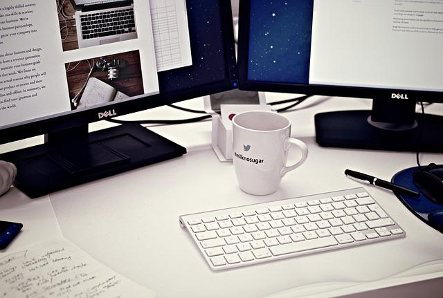 Workstation, Home Office, Computer, Coffee Mug, Cup