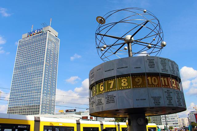 World Clock, Berlin, Alexanderplatz, Clock, Landmark