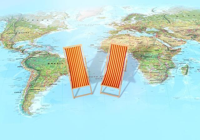 Map, World, Ocean, 3d Render, Concept, Resort
