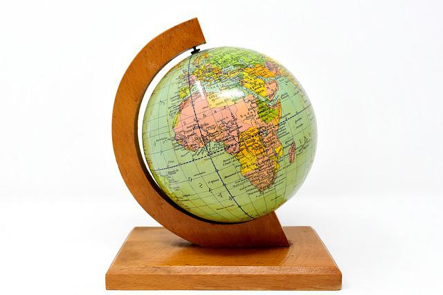 Globe, Earth, World, Planet, Old World Globe, Stand