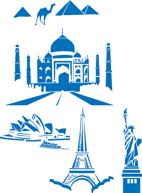 World, Landmarks, Taj Mahal, India, Eiffel, Tower