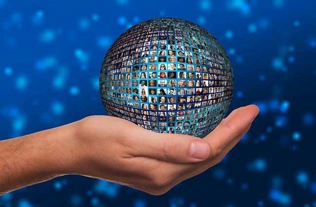 Hand, Ball, Faces, World, Population, Media, System