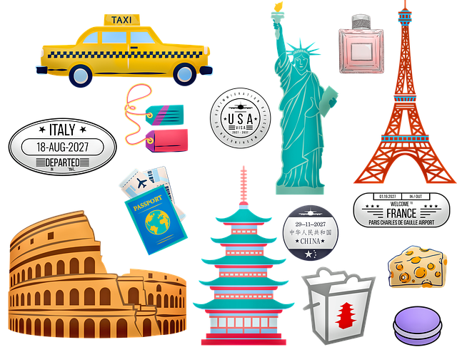 World Travel, Rome, China, Paris, New York, Taxi