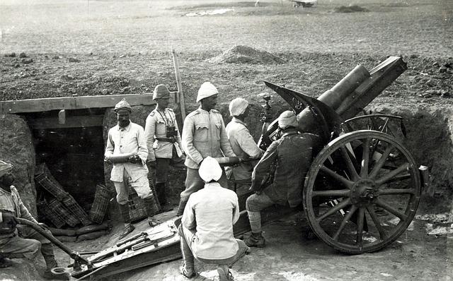 Howitzer, Gun, Turkey, World War I, Ww1, Wwi, Floor