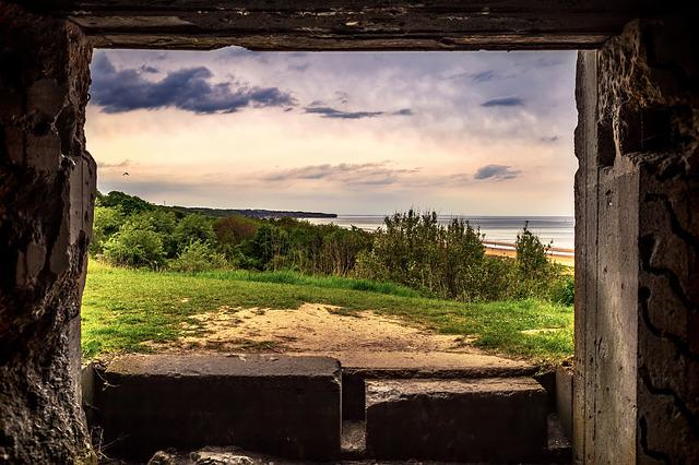 Omaha, Beach, World War Ii, German, Bunker, View