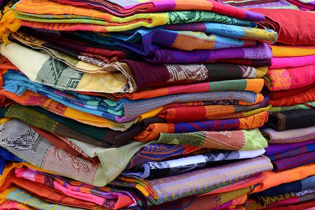 Towels, Fabric, Woven, Colorful, Color, Pattern