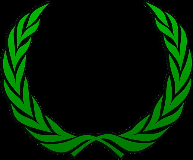 Laurel Wreath, Wreath, Accolade, Winner, Award, Badge