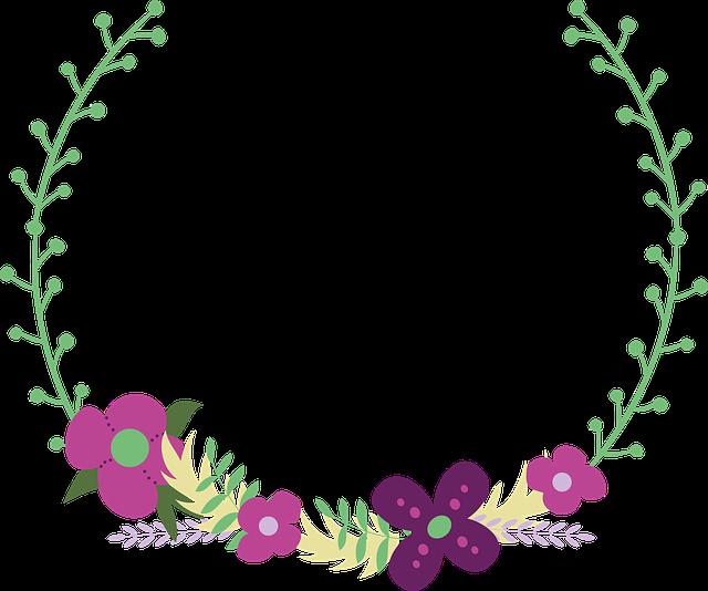 Floral, Flowers, Wreath, Laurel Wreath, Wedding