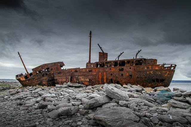 Ship Wreck, Stranded, Wreck, Shipwreck
