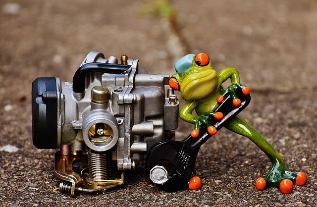 Frog, Mechanic, Screwdrivers, Carburetor, Fig, Wrench
