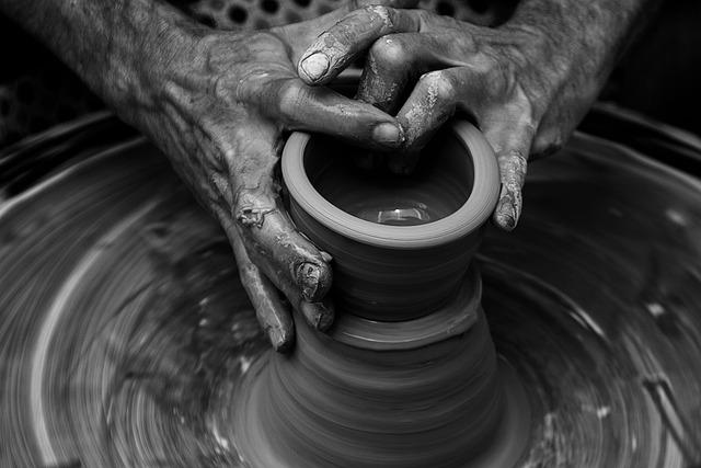 Nails, Hands, Wrist, Clay, Pot, Moulding, Art, Product