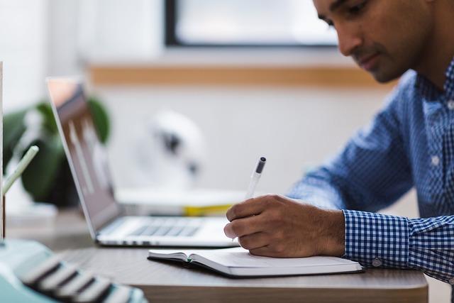 Man, Writing, Laptop, Computer, Write, Studying