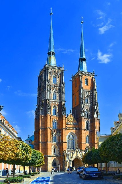 Wroclaw, Poland, Church, Architecture, Wrocław, Road